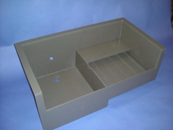 Custom Sink Fabricated From Industrial Grey PVC Sheet